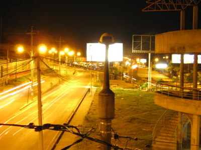 Night View Of The Lima Avenue