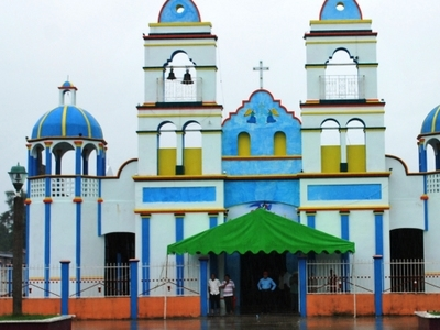 Facade Of The Church In Ayapa