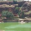 Badami Tank At Mouth Of Gorge