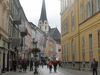 Bad  Ischl Straatzicht Met Kerk