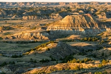 Badlands From Painted Canyon Overlook ND