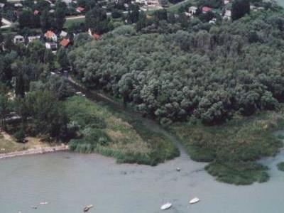 Balatonfűzfő, Hungary. Aerial Photograph