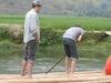 Bamboo Raft Rowing In Mai Chau