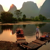 Bamboo Rafts On Yulong River