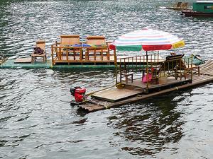Kampot River Bamboo Rafting Photos