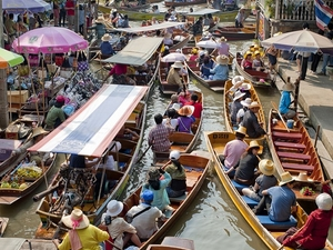 Half Day Floating Market Photos