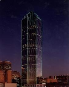 Bank Of America Plaza At Night