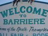 Barrieres Welcome Sign