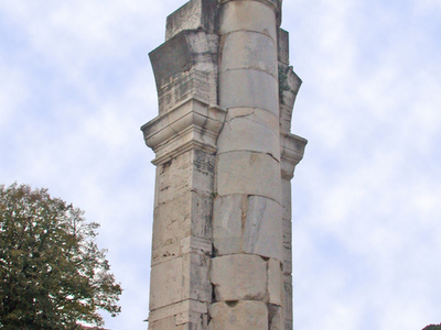 Remains Of A Center Column Of Basilica Julia