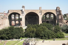 Remains Of The Basilica Of Maxentius