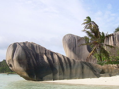 Beach On The Island Of La Digue - Seychelles