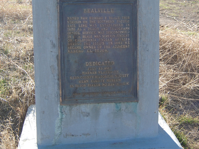 Bealville  C A Historic Marker