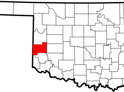 Beckham County Map
