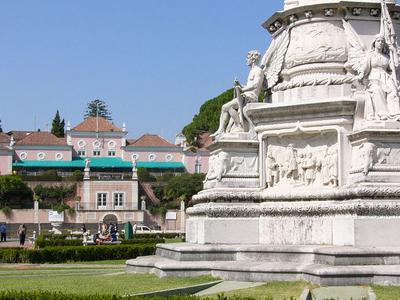 Monument To Afonso De Albuquerque And Belem Palace