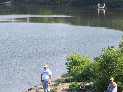 Belleville  Michigan  Fishing On  Lake  Edison