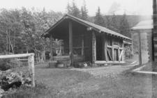Belly River Ranger Station Woodshed - Glacier - USA
