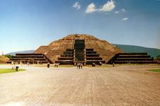 Below Pyramid Of The Sun In Teotihuacan