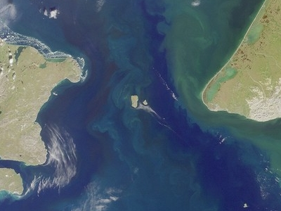 Bering Strait. Port Clarence Bay Is The Large Bight In The  Sout