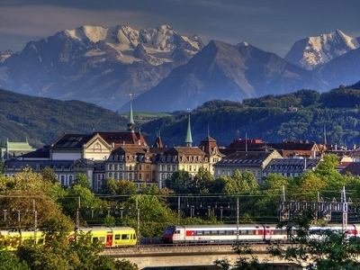 Bern & Swiss Alps Backdrop