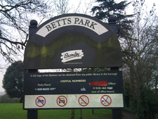 Betts Park Sign