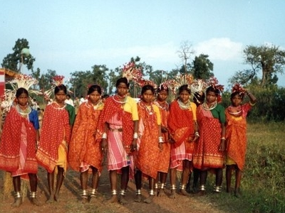 Bhil Tribe Girls In  Jhabua