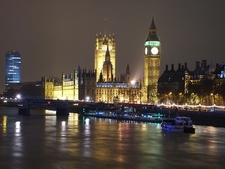 Big Ben Across Thames - Night View