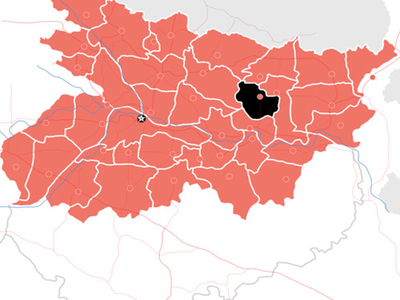 Bihar District Location Map Saharsa