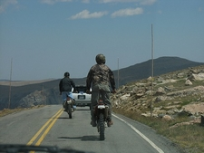 Bikers On Beartooth Pass Highway WY