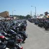 Bikes Lined Up On Main Street