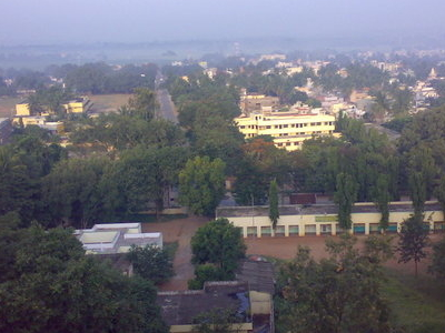 Birds  Eyeview Of  Kollegal  City From  Maradigudda