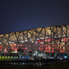 Beijing National Stadium At Night
