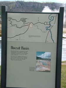 Biscuit Basin Tourist Map