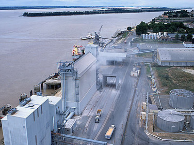 Dock With Its Grain Elevators
