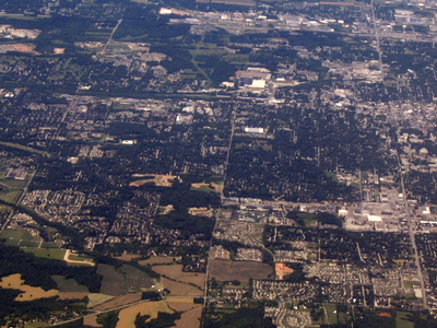Bloomington From Above Looking West