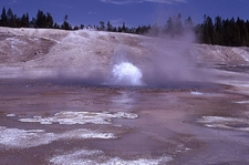 Blue Geyser At Yellowstone - USA