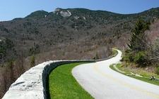 Blue Ridge Parkway Snaking Around Grandfather Mountain - North Carolina