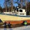 Boat Along Uutela Seashore Near Helsinki - Finland