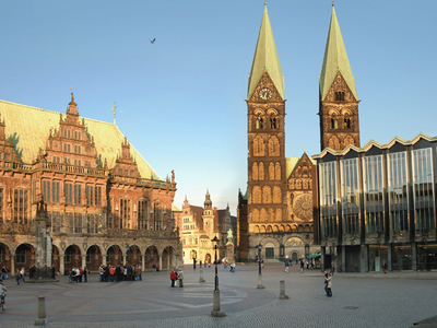Bremen Town Hall St. Peters Cathedral And Parliament