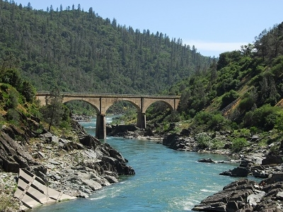 Bridge Over American River CA Near Auburn