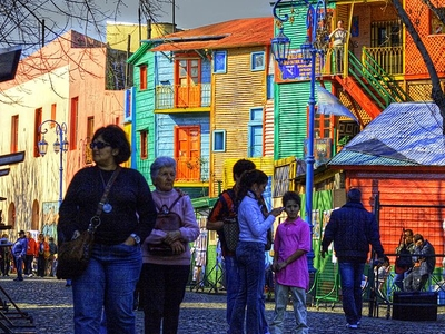 Brightly Painted Houses And Local Artists Selling Their Work