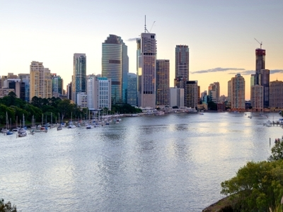 Brisbane From  Kangaroo  Point