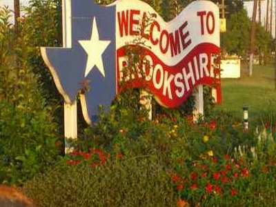 Brookshire Texas Welcome Sign.