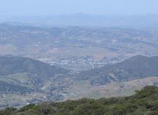 Buellton As Seen From Near Gaviota Peak In The Santa Ynez Mount