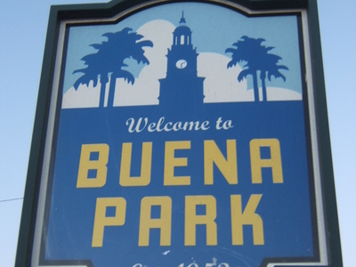 Buena Park Welcome Sign