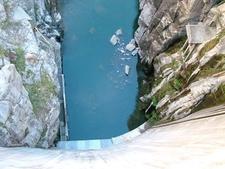 Buffalo Bill Dam Down View