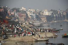 Busy Ghat At Varanasi