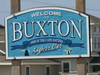 Buxton Welcome Sign