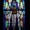 Stained Glass Image Of Bishop Loras