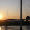 Kerrey Pedestrian Bridge At Sunset