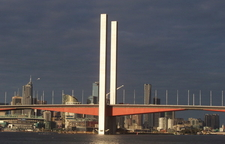 Bolte Bridge, Looking Back To The Melbourne CBD